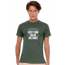 "T-Shirt Heren ""Keep your social distance"""